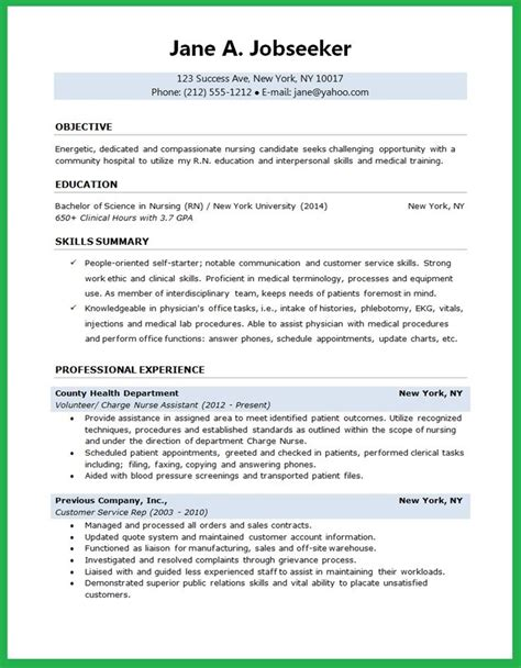 nursing student resume nursing resume template