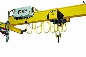 R U0026m 15 Ton Overhead Crane Kit With Electric Wire Rope Hoist