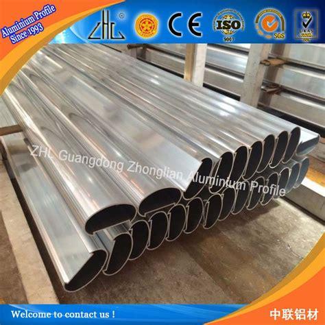profile aluminium extrusion oval shape handrail oem
