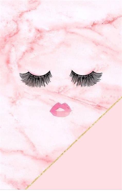 eyelashes girly mascara marble pink wallpaper phone