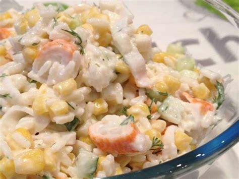 salade de riz au surimi et aux crevettes