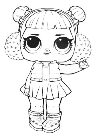 LOL Surprise Doll Snow Angel coloring page Free