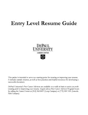 Depaul Resume Guide by Functional Resume Template Forms Fillable Printable