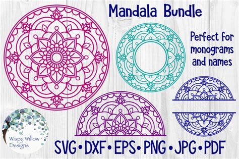 They are perfect for those of you who love to weed! The Incredible Bundle - Mandala SVG Cut Files By Wispy ...