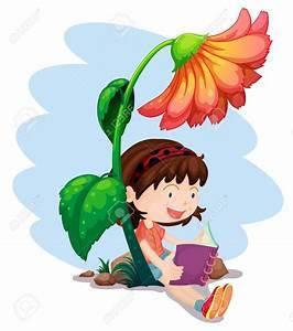 Children Reading Under Tree Clipart - ClipartXtras