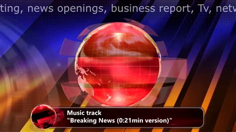 Background Music For News Intro 'breaking News' News Sound