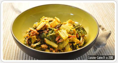 recettes cuisine bio recette bio rapide omelette aux blettes cuisine saine