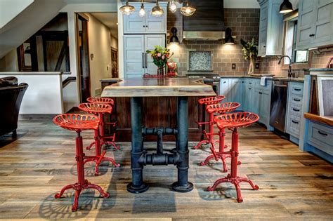 pipe kitchen island 59 cool industrial kitchen designs that inspire digsdigs 1526
