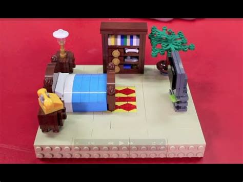 lego bedroom set how to build lego furniture for your minifigures
