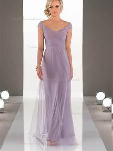 2017 designer celebrity lilac long tulle bridesmaid dress With wedding dresses colorado