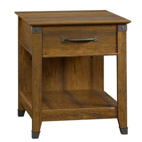 sauder carson forge side table sauder carson forge collection washington cherry rectangle