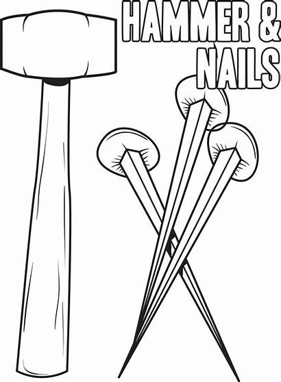Hammer Coloring Nails Crucifixion Printable Pages Christ