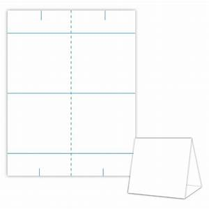 Table tent design template blank table tent white for Blanks usa templates