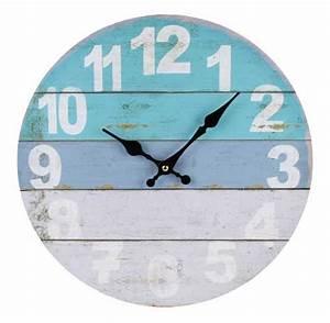 Clocks: coastal clocks Large Coastal Wall Clock, Beach