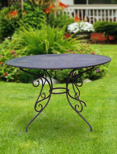 Runder Tisch Garten by Runder Garten Tisch 187 Urbain 171 Aus Metall Gartentraum De