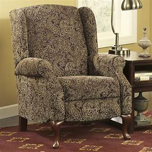 Nadior paisley wing back high leg recliner by signature for Ashley home furniture outlet memphis