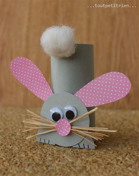 lapin avec un rouleau de papier wc bricolage enfants