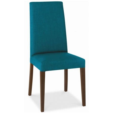 ander walnut taper back teal upholstered dining chair