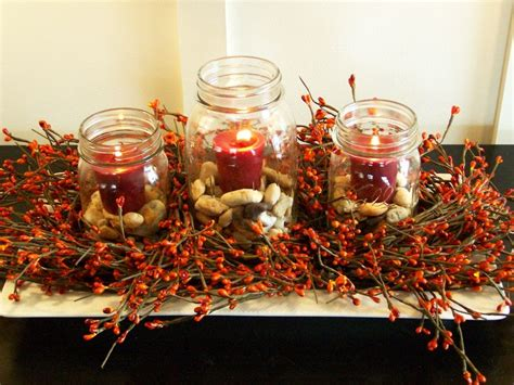 how to decorate a table for fall diy fall decorations modern magazin