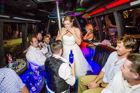 las vegas strip party bus wedding  lauren kit