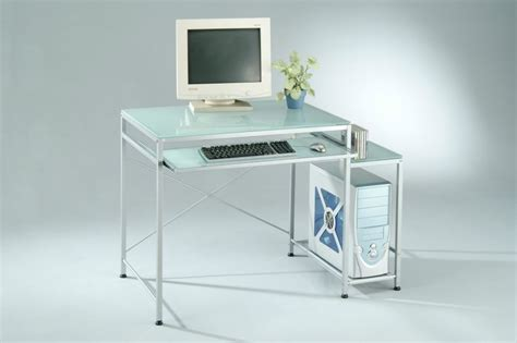 Frosted Tempered Glass Computer Desk by Sam Yi Furniture Manufacturer In Dining Room Chair Home
