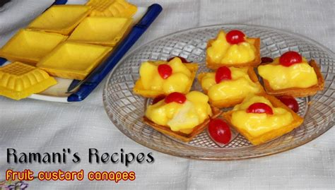 fillings for canapes ramani 39 s recipes fruit custard canapes