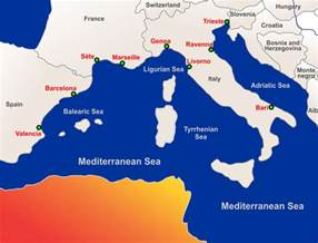 Mediterranean Sea Map Europe