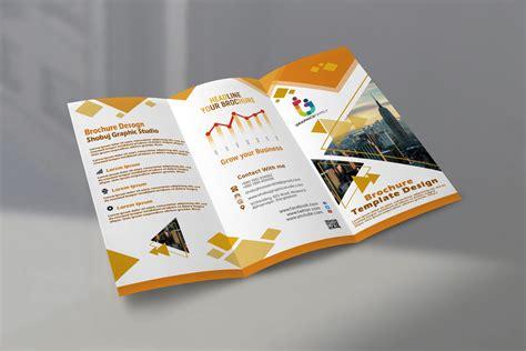 modern tri fold brochure design  psd graphicsfamily