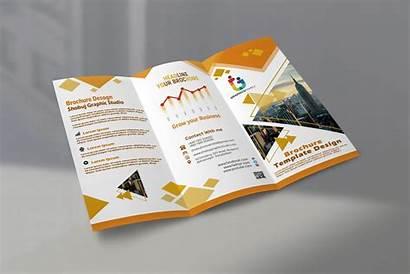 Brochure Fold Tri Modern Psd Graphicsfamily