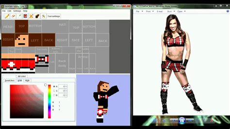 Wwe Aj Minecraft Skin Speed Edit