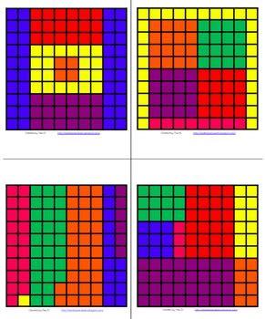 math fraction  decimal hundreds grid art common core