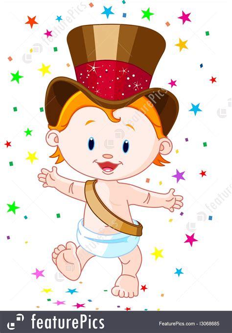 Holidays New Year Baby  Stock Illustration I3068685 At