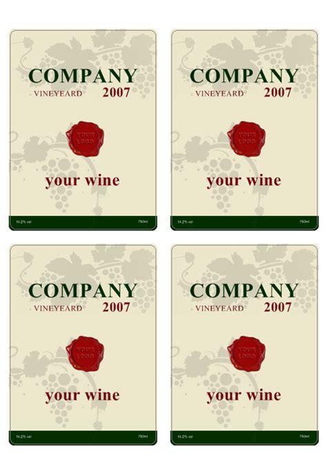 descargue plantillas de etiquetas de vino personalice