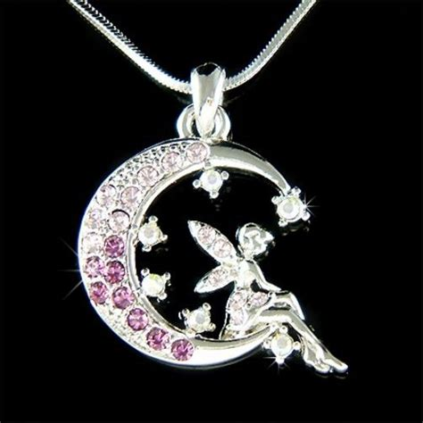 moon and stars fairy l purple fairy w swarovski crystal tinkerbell angel moon