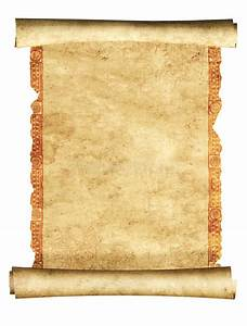 3d scroll of old parchment stock photo. Image of curled ...