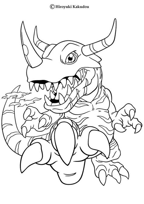 greymon coloring pages   print