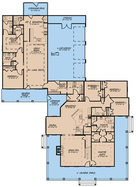 Favorite! Perfect One Story And 2 Br Inlaw Suite 5020