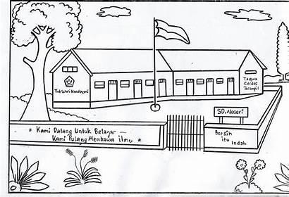 Gambar Sekolah Mewarnai Sd Untuk Di Drawing