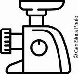 Grinder Meat Clip Icon Outline Clipart Nsit0108 sketch template