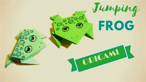origami jumping frog     paper frog hand