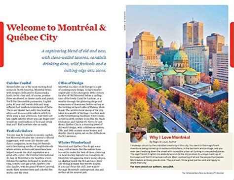 Montreal To Quebec City By Boat by Lonely Planet Montreal Quebec City Travel Guide