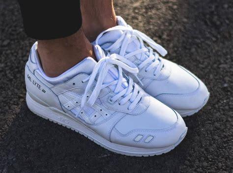 asics gel lyte iii triple white sneakernewscom