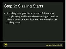 Seven Steps to Writing Success Steps 1 3