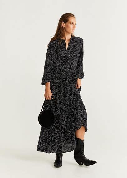 lange jurk met spleet