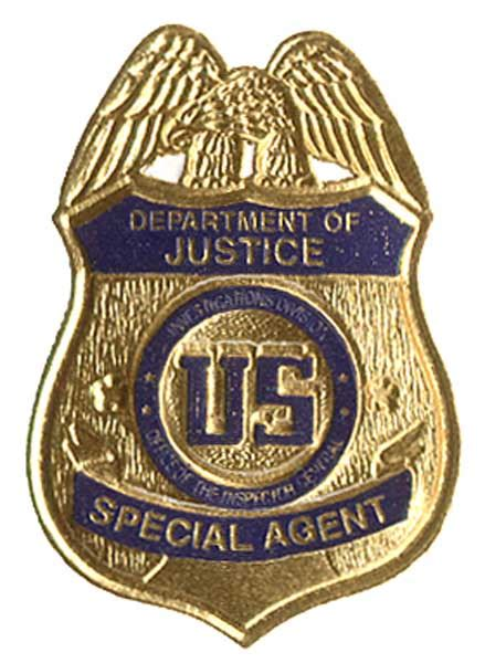 us department of justice oig badge business card