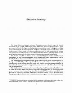 army executive summary template With army exsum template