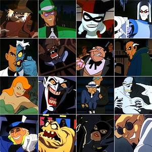 Batman The Animated Series Villain Roster- 1st generation ...