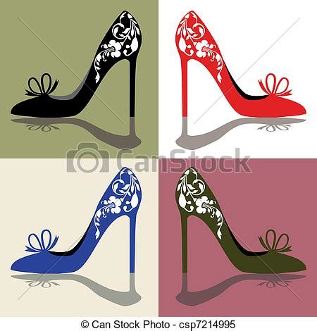 shoes silhouettes  womens shoes high heels  ornaments