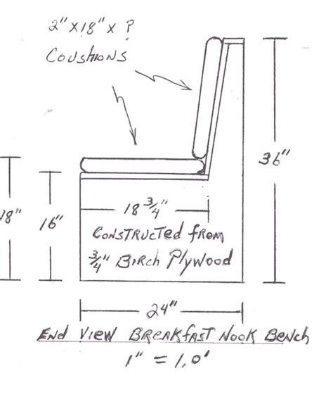 build breakfast nook dimensions google search kitchen