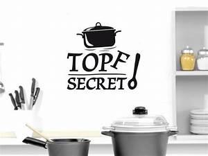 Deko Tafel Küche : wandtattoo tattoo wandaufkleber deko f r k che spruch topf secret kochl ffel wanddeko f r ~ Sanjose-hotels-ca.com Haus und Dekorationen